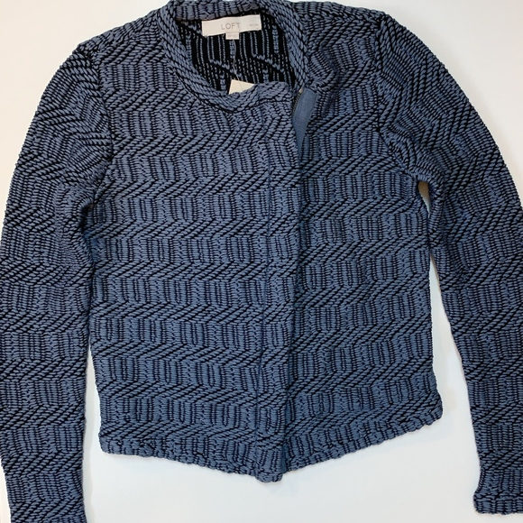 LOFT Jackets & Blazers - NWT Ann Taylor Loft Slanted Zip Moto Jacket XSP